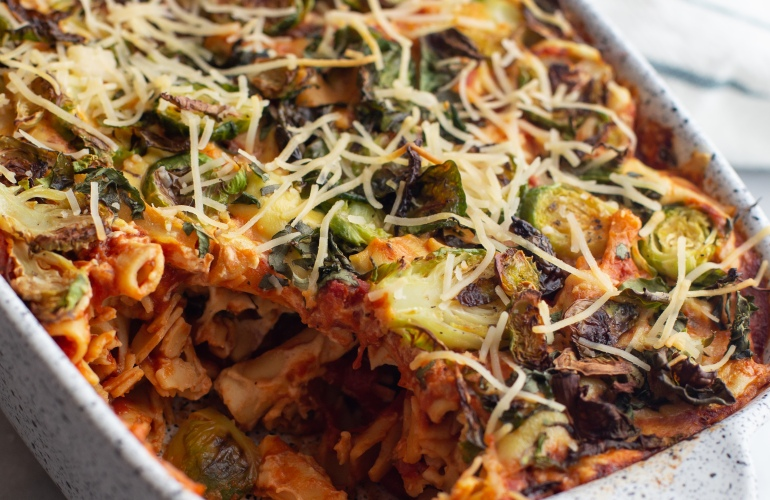 Vegan and Gluten-Free Baked Ziti